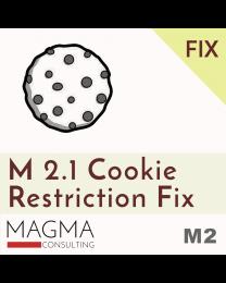 Magento 2.1 Cookie Restriction Fix