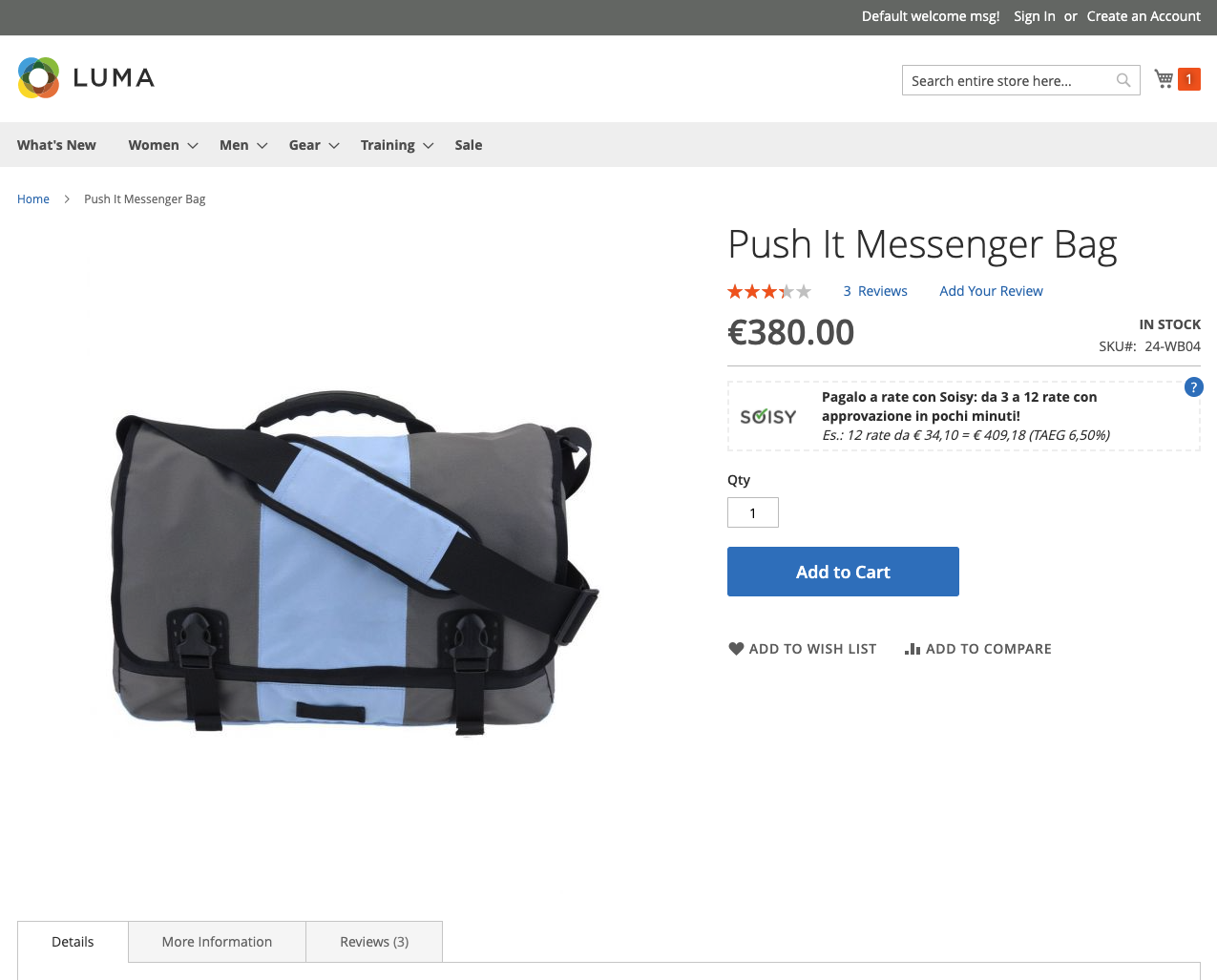 Magma - Magento 2 Soisy Banner in Product View